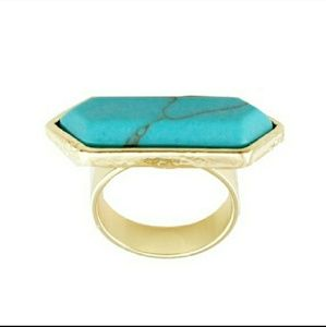 T&J Designs Jewelry - Turquoise Marbled Stone Ring